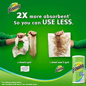 2X more absorbent so you can use less