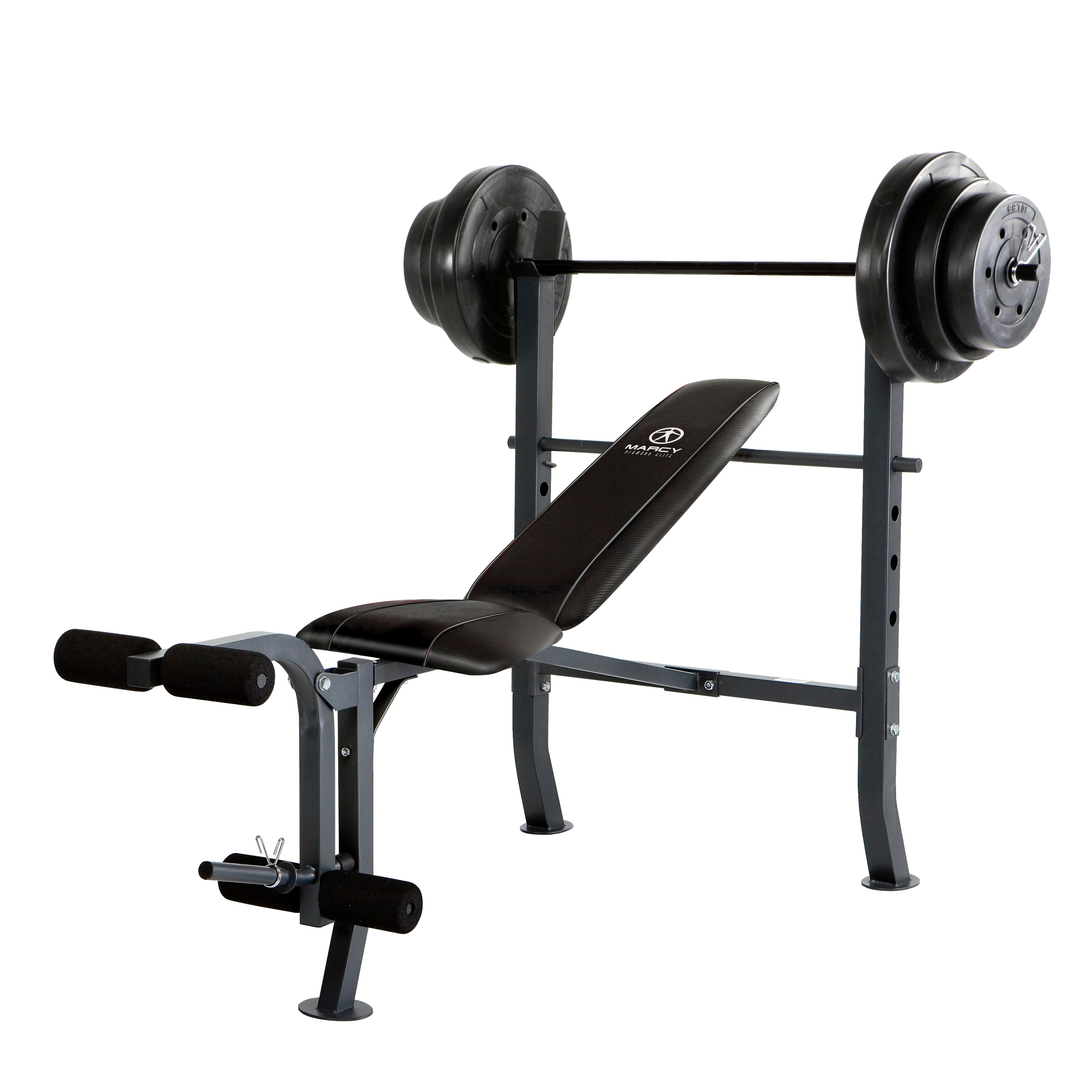 Marcy Diamond Mid Width Bench And 100 Pound Weight Set
