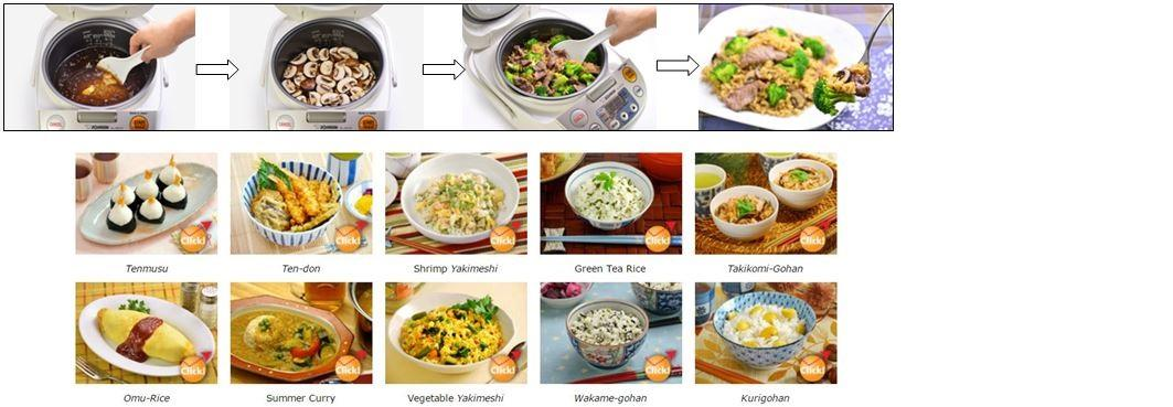 Versatile Cooking - for a variety of rice meal styles
