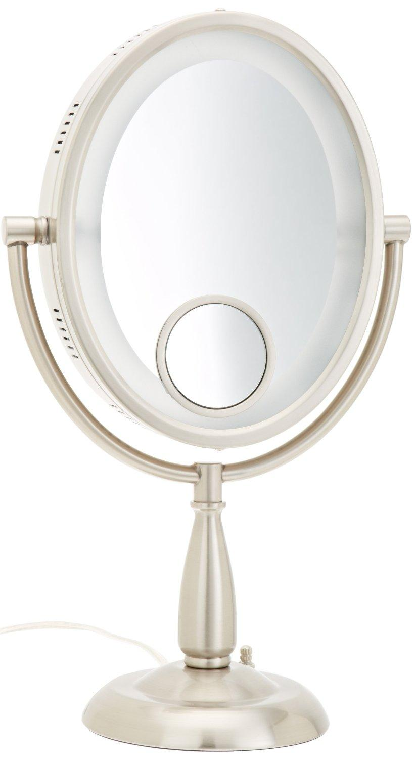 Jerdon Hl9510n 8 Inch Two Sided Oval Halo Lighted Vanity