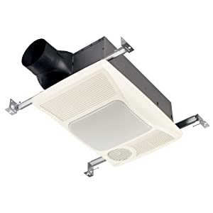 BROAN 100HL Directionally-Adjustable Bath Fan with Heater and Incandescent Light.