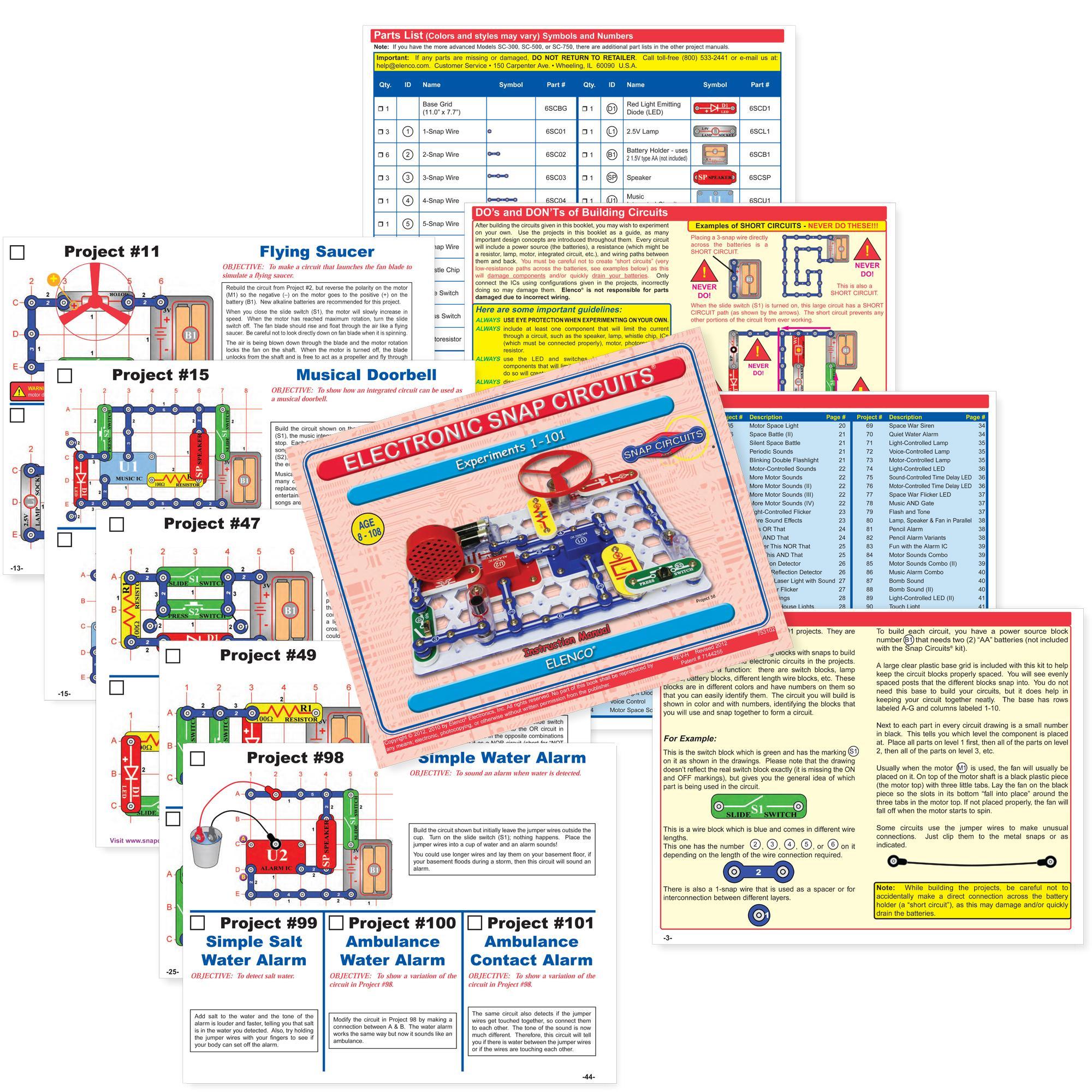 2218 Elenco Snap Circuits Jr Sc 100was 46 Toys Canada Best Deals Sound View Larger