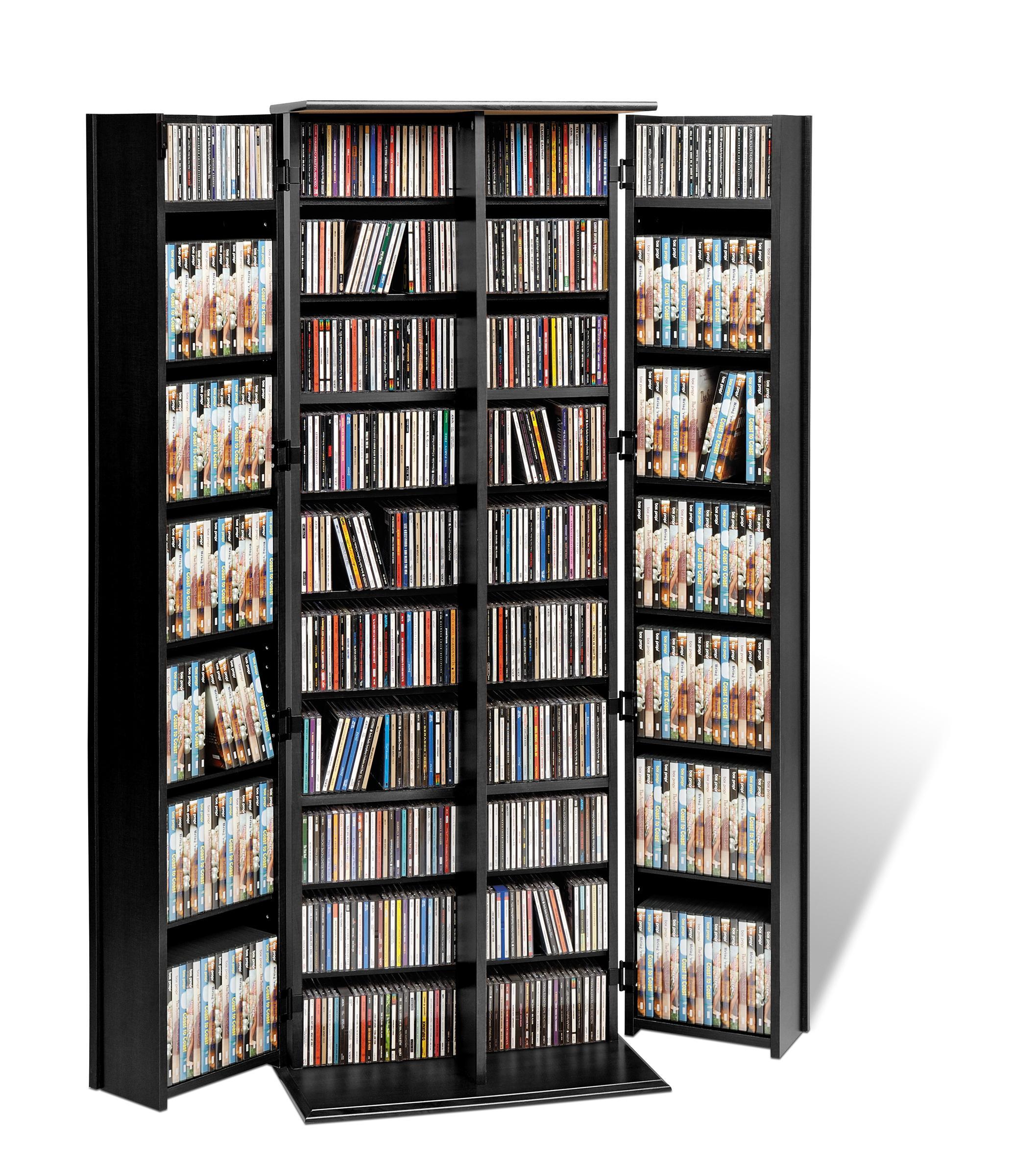 Amazon Com Espresso Grande Locking Media Storage Cabinet With