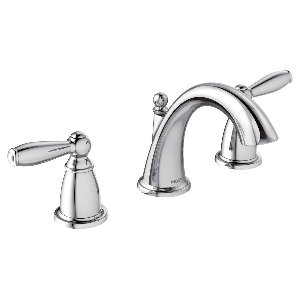 Moen T6620 Brantford Two Handle Low Arc Bathroom Faucet