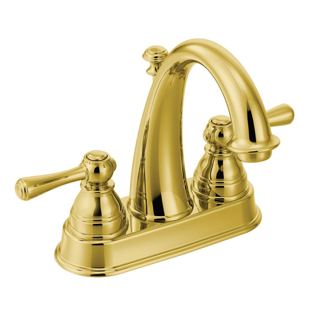 Moen 6121p Kingsley Two Handle High Arc Bathroom Faucet Polished Brass Touch On Faucets