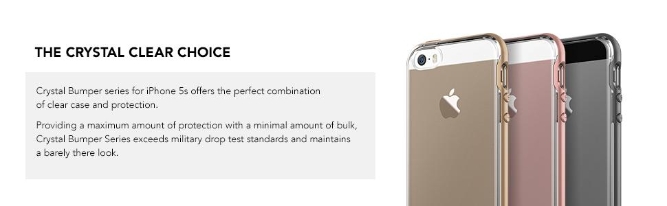 best website 74c67 c3c9e iPhone 5S Case, VRS Design [Crystal Bumper][Rose Gold] - [Clear  Cover][Military Grade Protection] For Apple iPhone 5S