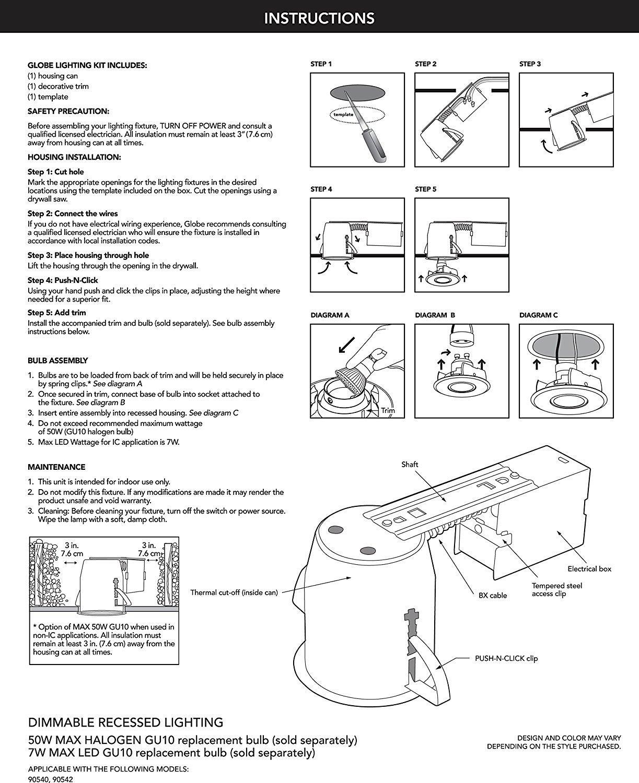 Bathroom Spot Light Wiring Diagram : Quot bathroom shower dimmable downlight recessed lighting