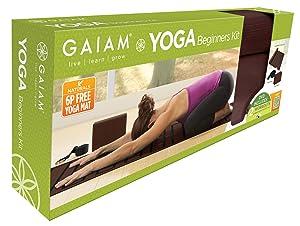 Gaiam Beginners Yoga Starter Kit (Yoga Mat, Yoga Block, Yoga Strap)