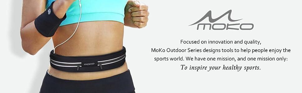 MoKo r/ésistant /à leau chemin de ceinture Sports Fanny Lot Fit iPhone 7//6S Plus Jogging Running Tour de taille Lot 3 poches Sac banane Fitness Workout Ceinture pour randonn/ée Voyage Galaxy S8 et plus jusqu/à 15,2 cm