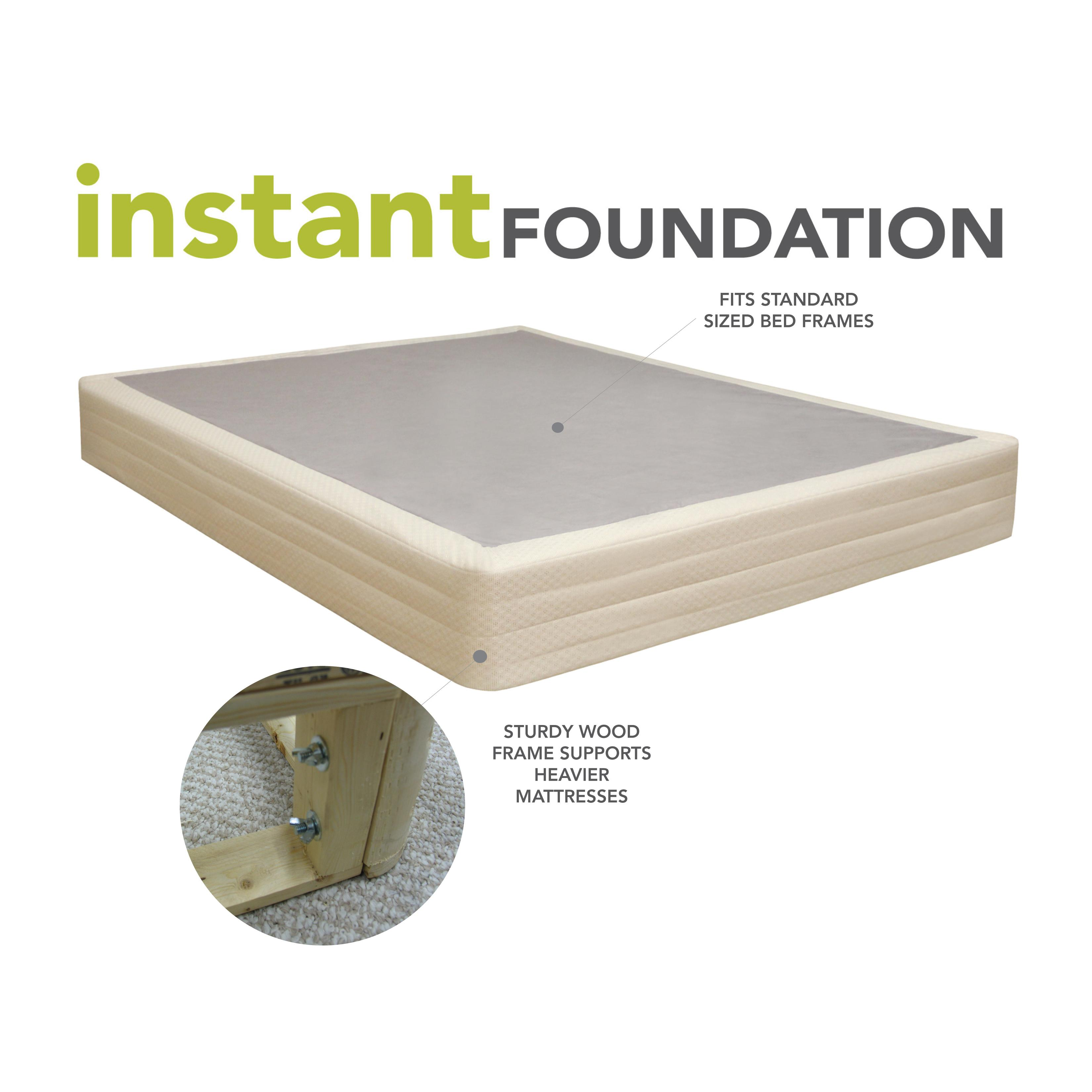 Traditional Mattress Vs Memory Foam Classic Brands Instant Foundation for Bed Mattress, Easy to Assemble ...