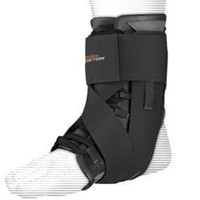 Shock Doctor Ultra Wrap lace ankle support, lace up ankle support, shock doctor ankle support