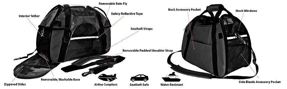 Amazon.com: FurHaven Pet mochila con ruedas Explorer y ...