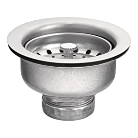 Moen 3-1/2-Inch Drop-In Basket Strainer with Drain Assembly