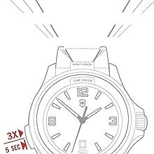 Night Vision, Swiss Made, Victorinox, Victorinox Swiss Army, Dial illumination, Swiss