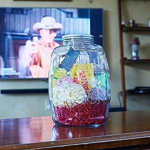 Anchor hocking; glassware; barrel jar; glass; pantry storage; gifting; presents; DIY;