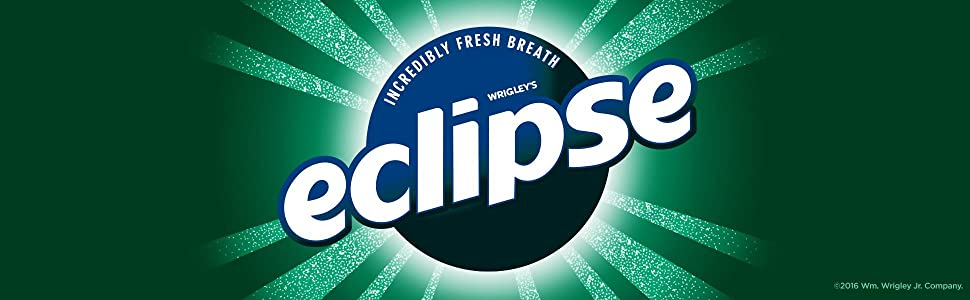 Eclipse, gum, chewing gum, sugar free, Wrigley, sugarfree gum, white gum, mint flavored