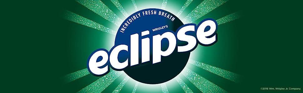 Eclipse, gum, chewing gum, sugar free, Wrigley, sugarfree gum, white gum, mint flavored