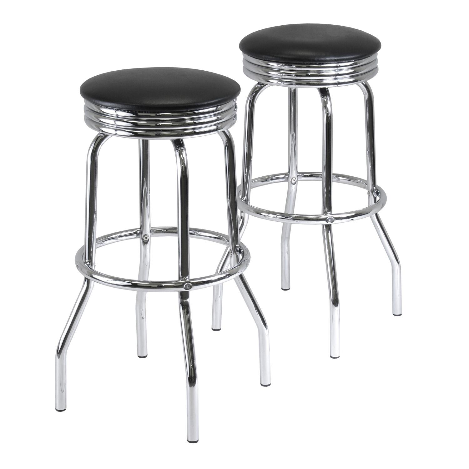 Amazon Com Winsome Wood Summit Swivel Bar Stools With