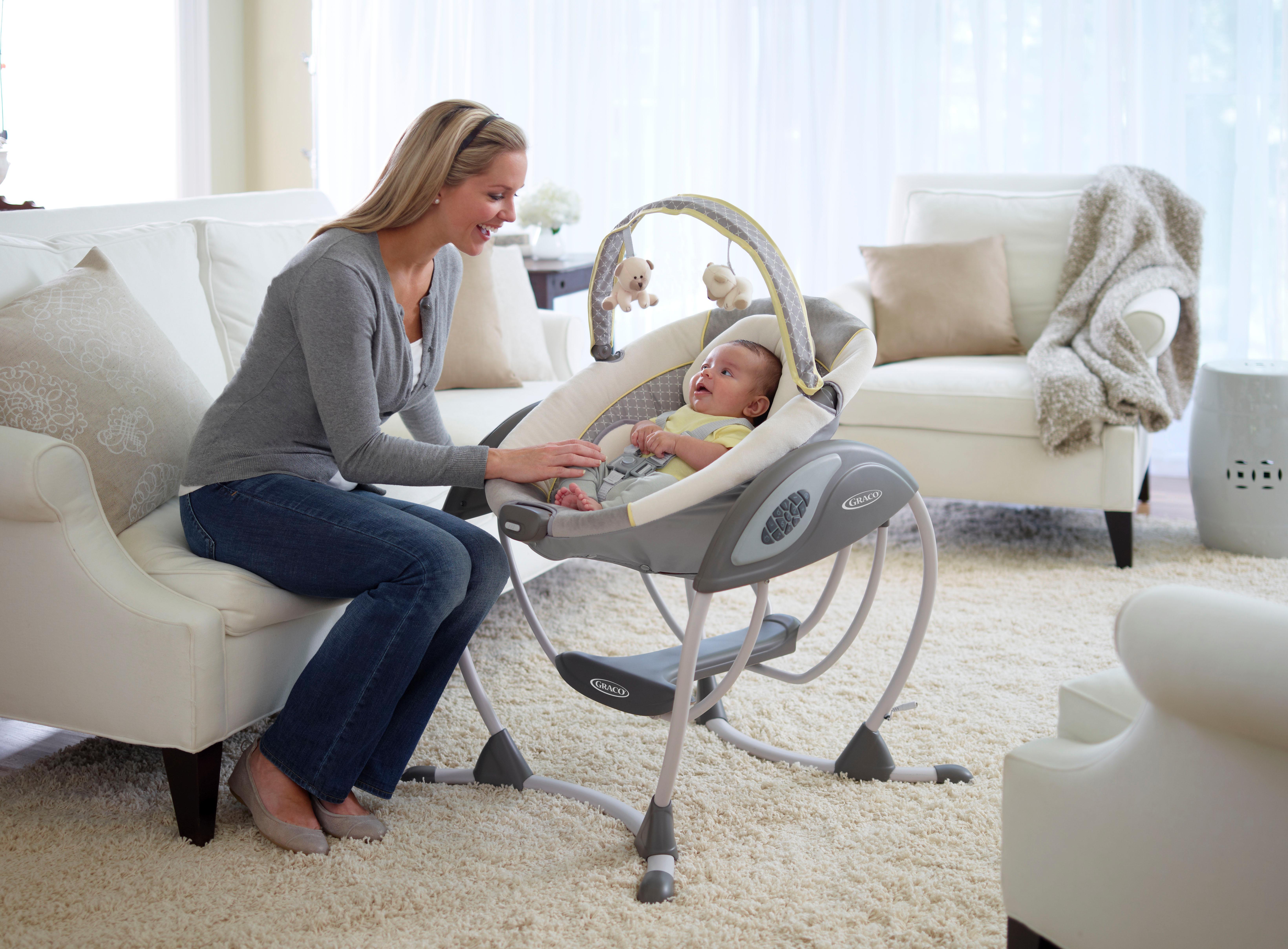 Amazon Com Graco Glider Lx Gliding Swing Affinia Baby