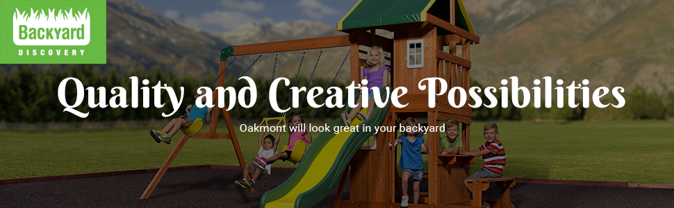 Backyard Discovery 65114 Oakmont All Cedar Playset Swing