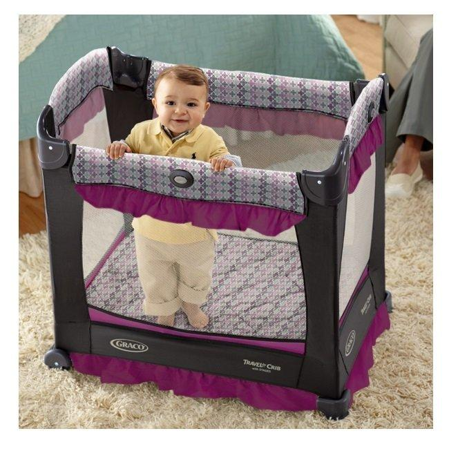 Graco Baby Travel Lite Crib With Stages Bassinet Nyssa