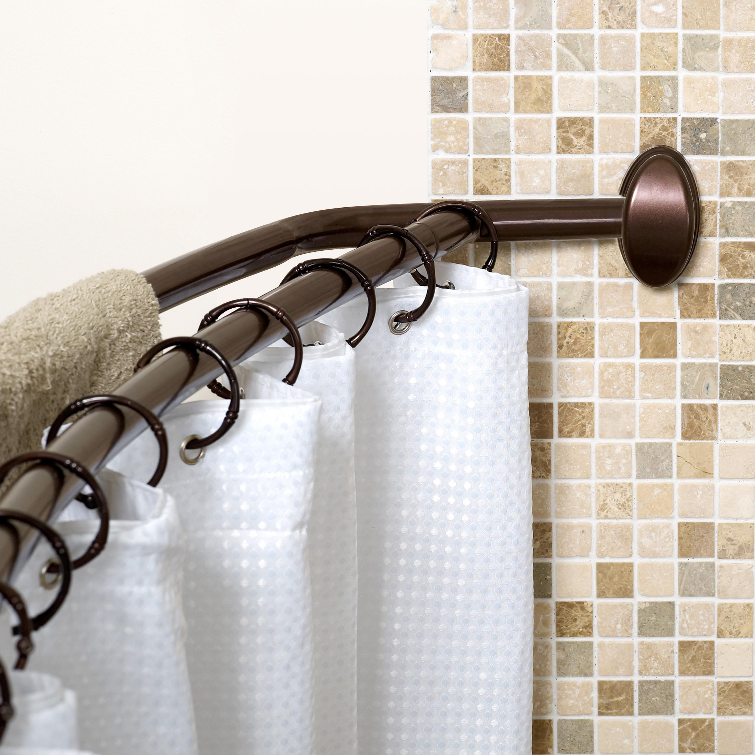 bathroom curved ideas your within shower rail design curtain house rod creative