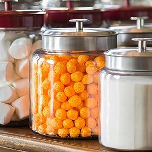 pantry; storage; metal lids; air tight; fitted gasket; fresh food