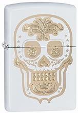 sugar skull, zippo skull lighter, engraving