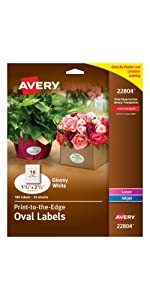 Oval branding labels
