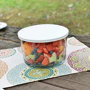 anchor hocking; glass; party bowl; trifle bowl; salad bowl; dessert bowl; easy transport; no spills;