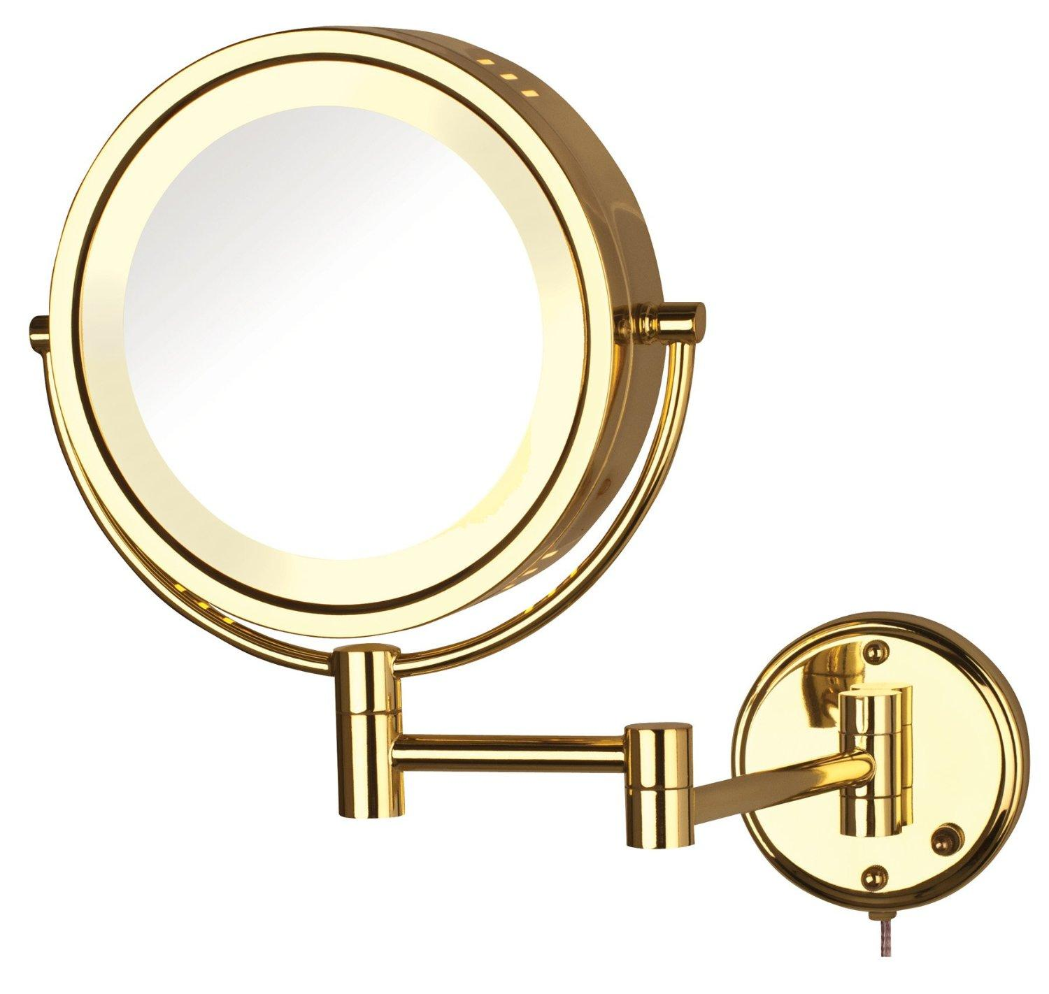 Amazon Jerdon Hl75g 85 Inch Lighted Wall Mount Makeup Mirror