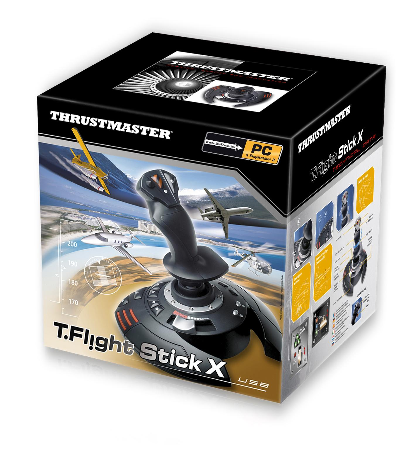 Amazon.com: Thrustmaster T-Flight Stick X PS3: PC: Video Games