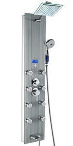 akdy, 787392f, shower panel, gray, shower tower, bathroom,