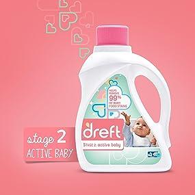 dreft laundry detergent, dreft baby detergent, he, high efficiency, washing baby clothes