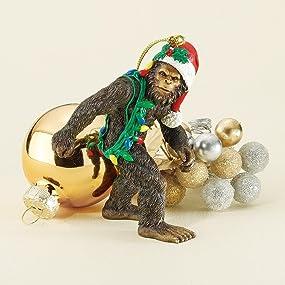holiday ornament, bigfoot