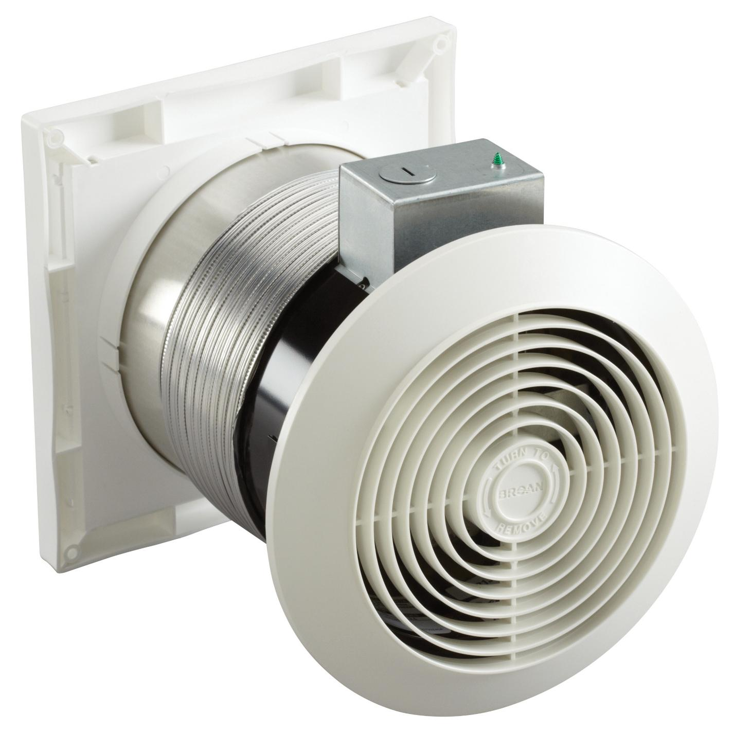 Bathroom Exhaust Fans Through Wall : Broan m through wall fan inch cfm sones