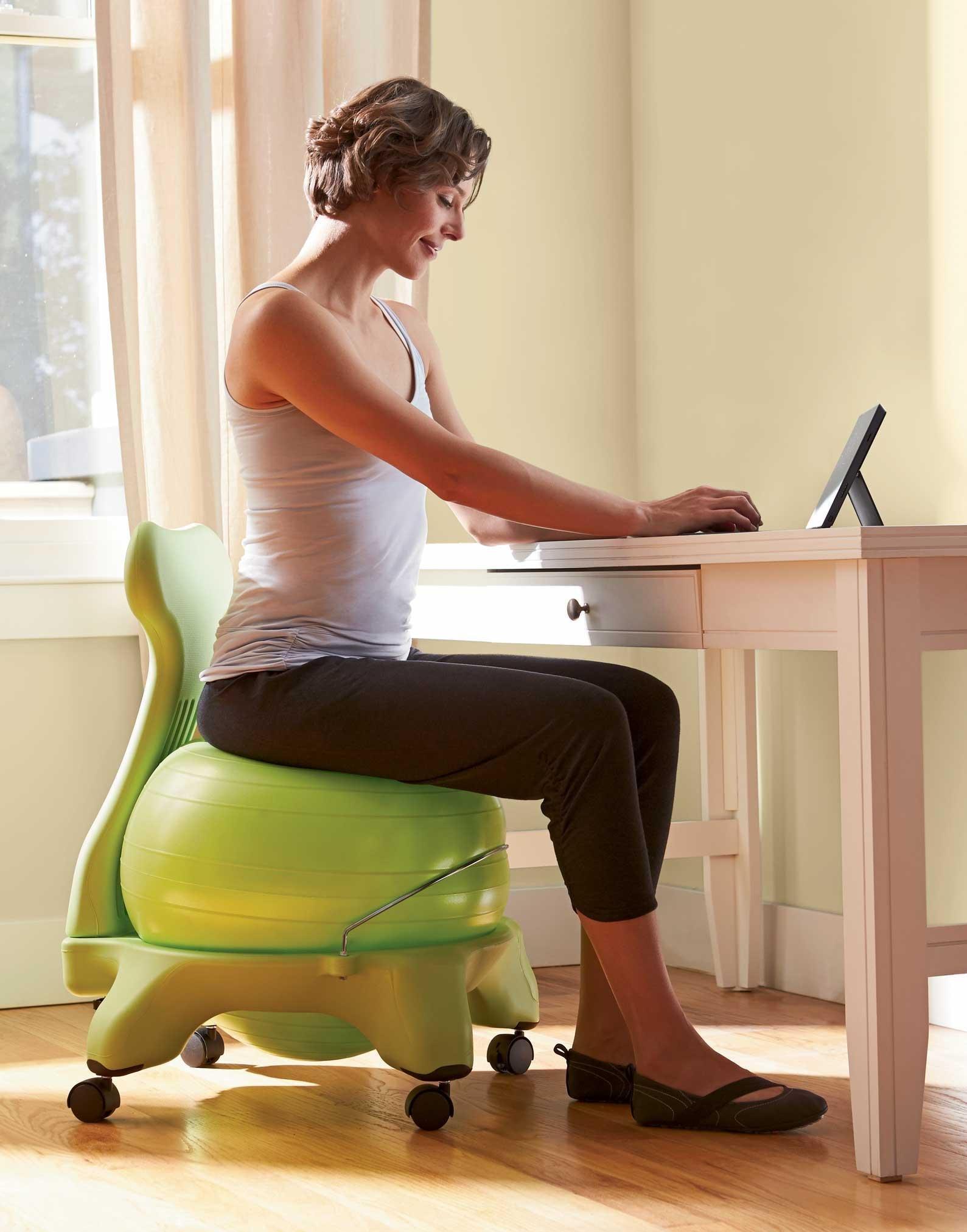 "Buy Gaiam Balance Ball Chairs 22""W x 31""H x 22""D 13 lbs Black"