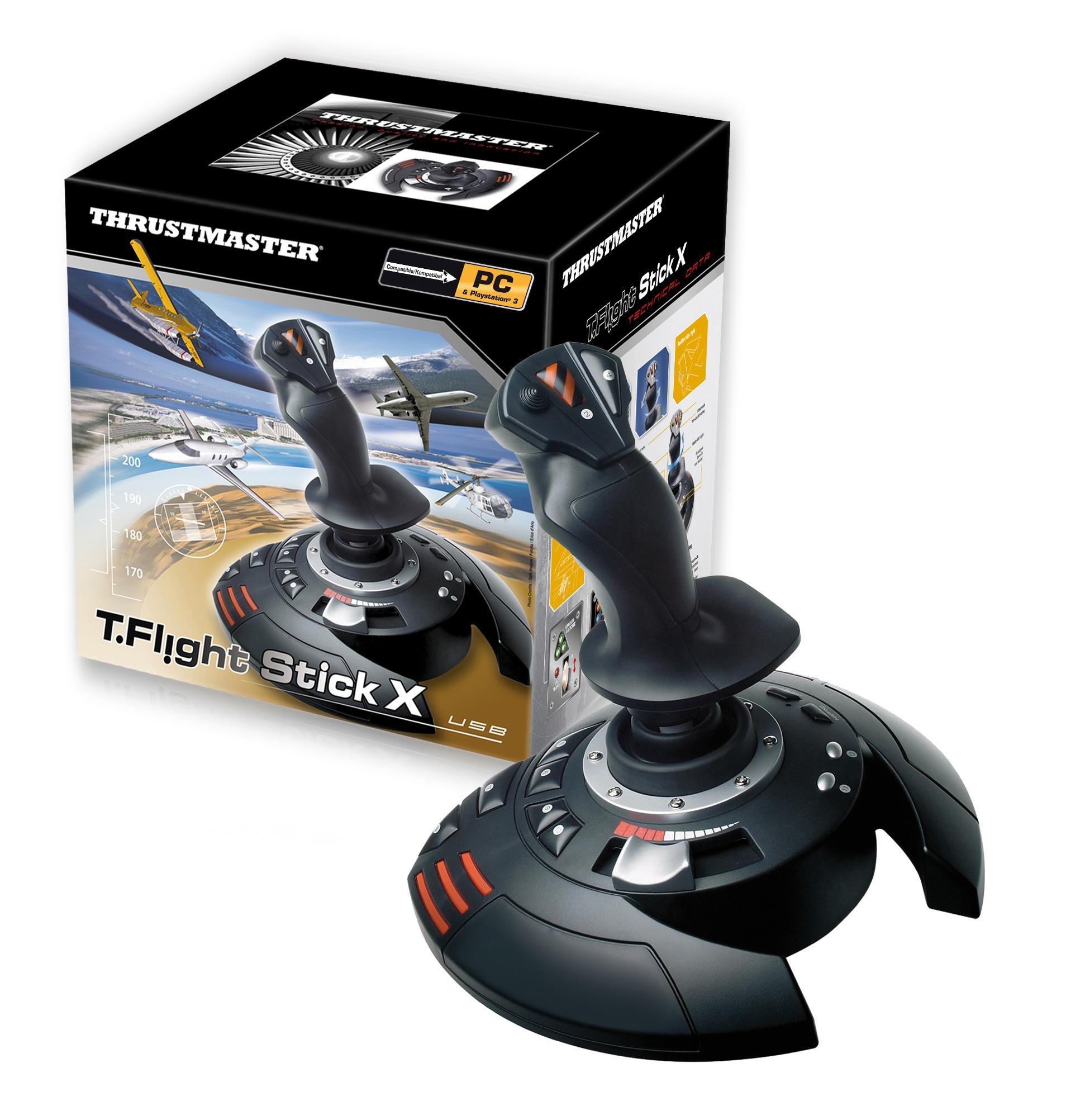 Amazon com: Thrustmaster T-Flight Stick X PS3: PC: Video Games