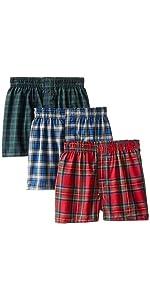 Hanes Boys 3 Pack Ultimate Comfort Flex  Solid Knit Boxer