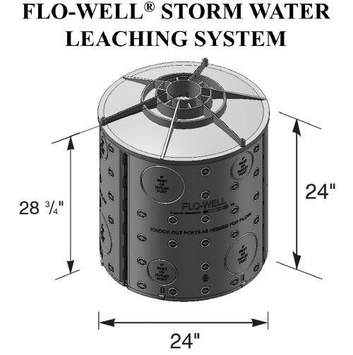 Nds Fwas24 Dry Flo Well Storm Water Leaching System Black