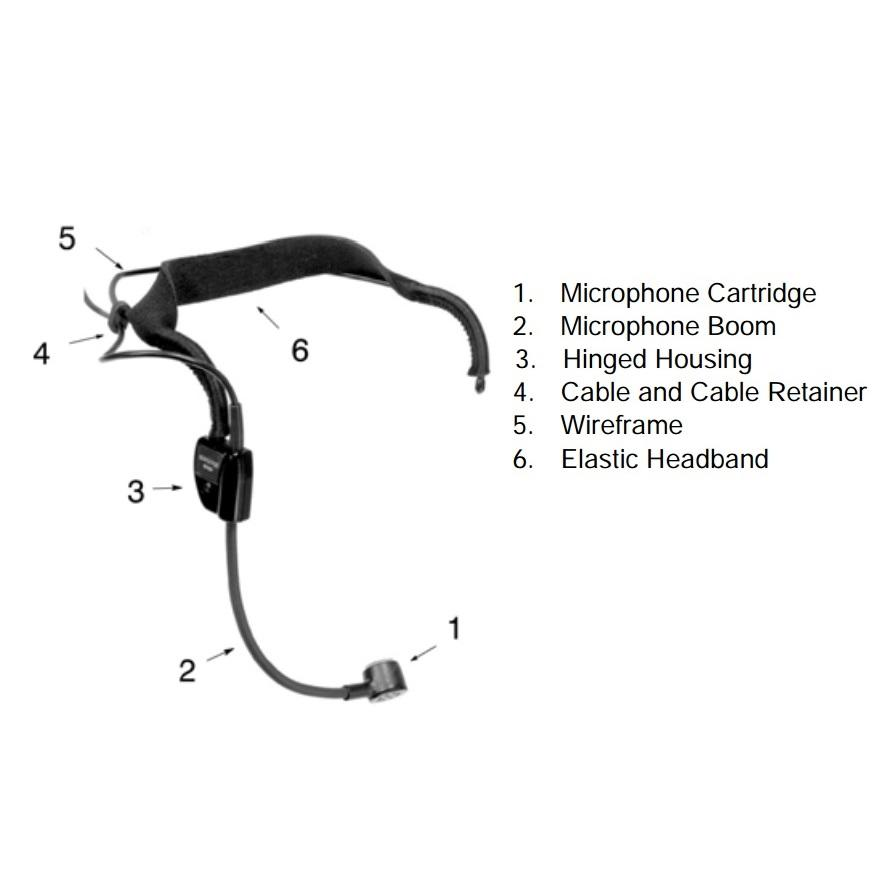 amazon com shure wh20tqg dynamic headset microphone includes diagram 5 pin  mic wiring super star boom
