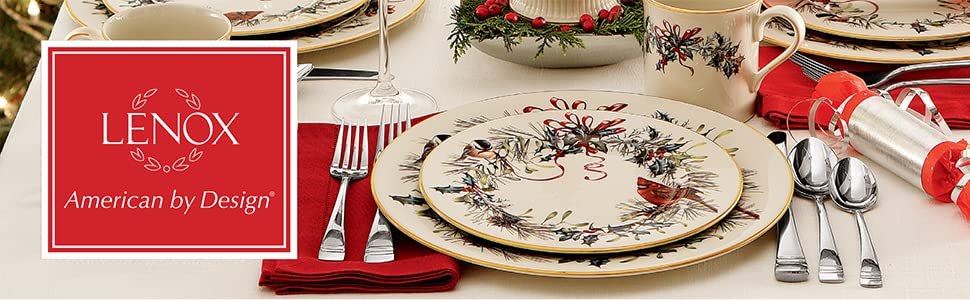 Amazon lenox winter greetings 5 piece place setting accent plates lenox holiday lenox winter greetings lennox lenox holiday dinnerware lennox holiday m4hsunfo