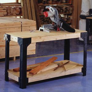 Awe Inspiring 2X4Basics 90164 Custom Work Bench And Shelving Storage System Black Camellatalisay Diy Chair Ideas Camellatalisaycom