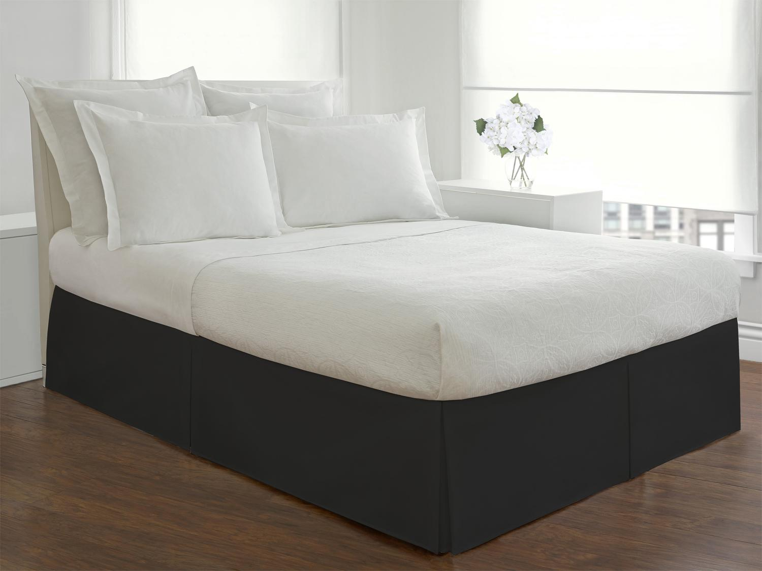 Lux Hotel Bedding Tailored Bedskirt Classic 14 Drop