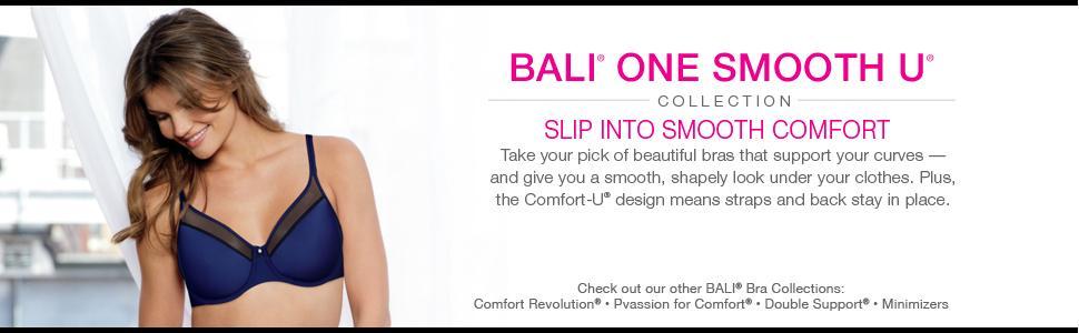 Bali Women S One Smooth U Underwire Bra With Lace Side