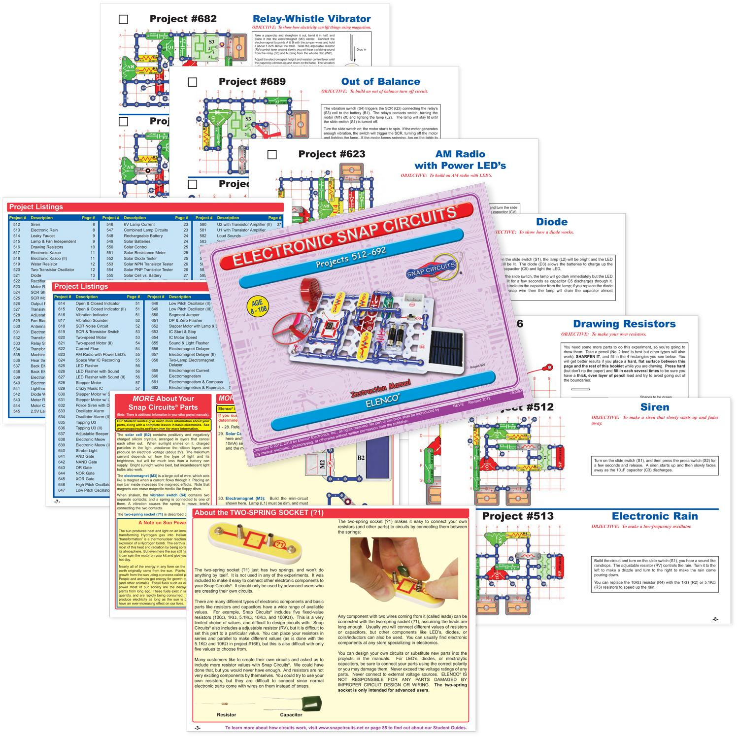 Buy Snap Circuits Extreme Sc 750 Electronics Discovery Kit Online At Elenco Pro Sc500 Science View Larger