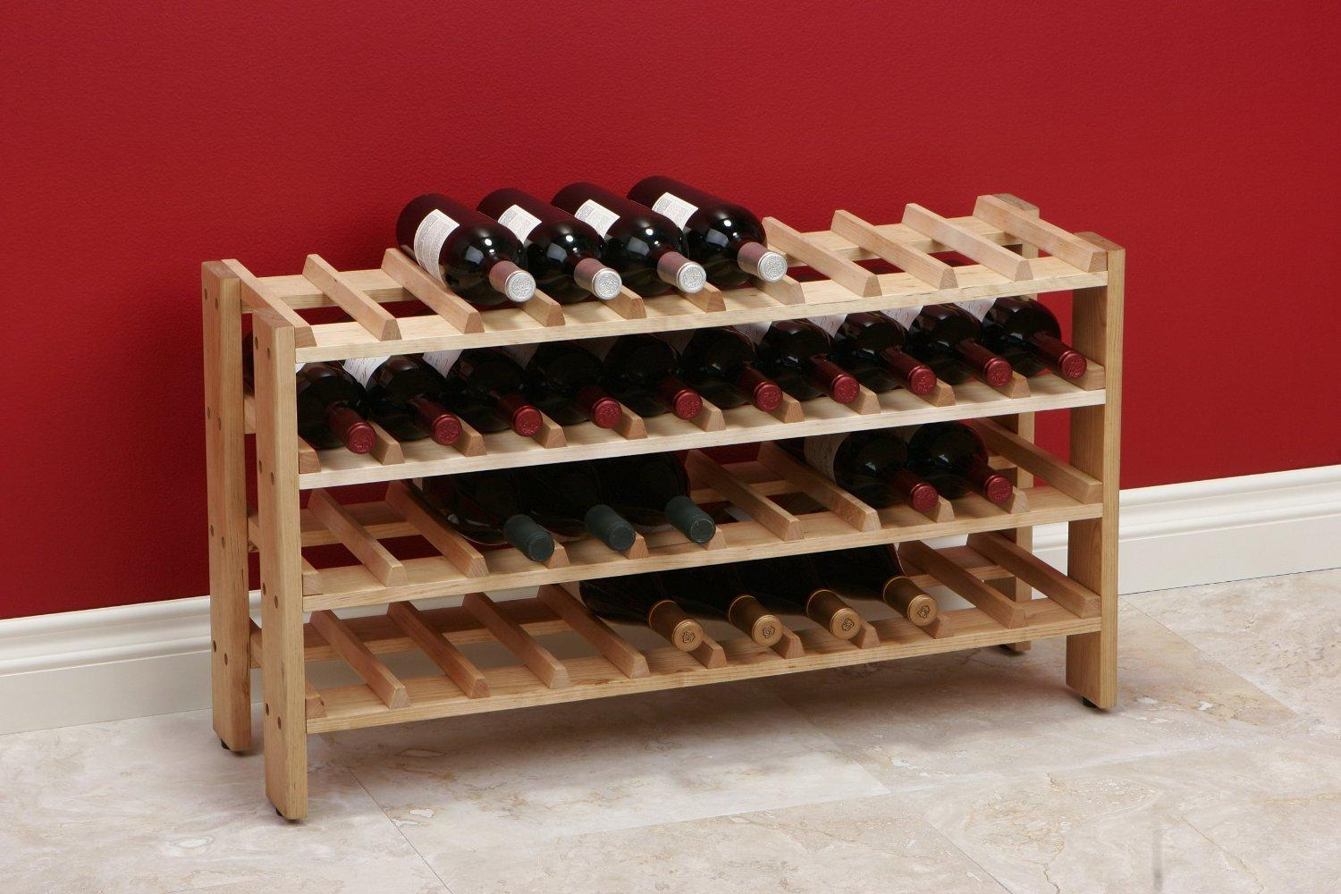 how to make a wine rack in a kitchen cabinet seville classics 40 bottle birchwood wine rack 17102