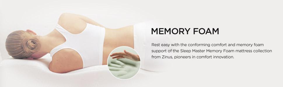 Amazon Com Zinus Memory Foam 5 Inch Bunk Bed Trundle