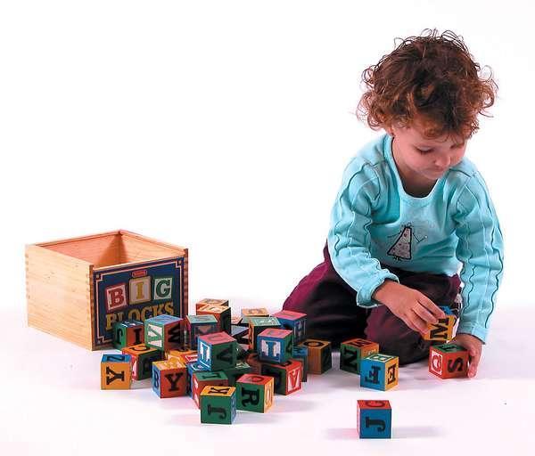Educational Schylling Abc Big Blocks 48 Piece Wood Alphabet Blocks