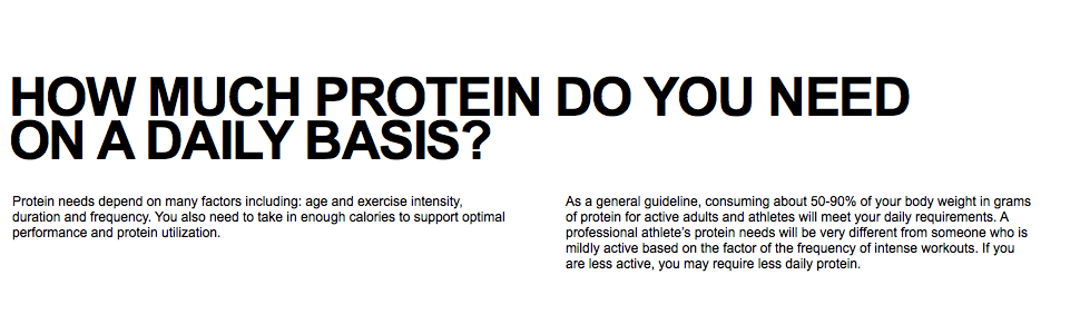 Protein Needs, Daily Protein Requirements